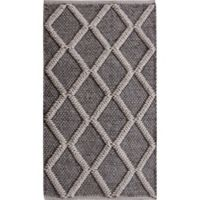 Dakota 2-Foot 3-Inch x 3-Foot 9-Inch Accent Rug in Grey/White