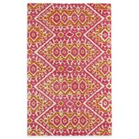 Kaleen Global Inspirations Tribal Zig Zag 5-Foot x 7-Foot 9-Inch Area Rug in Pink