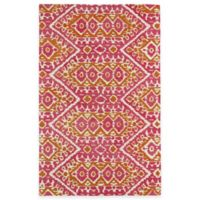 Kaleen Global Inspirations Tribal Zig Zag 8-Foot x 10-Foot Area Rug in Pink