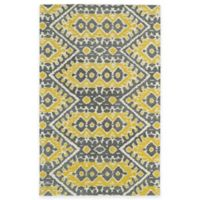 Kaleen Global Inspirations Tribal Zig Zag 8-Foot x 10-Foot Area Rug in Yellow