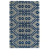 Kaleen Global Inspirations Tribal Zig Zag 8-Foot x 10-Foot Area Rug in Blue