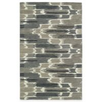 Kaleen Global Inspirations Watercolor Ikat 3-Foot 6-Inch x 5-Foot 6-Inch Area Rug in Grey