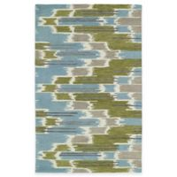 Kaleen Global Inspirations Watercolor Ikat 3-Foot 6-Inch x 5-Foot 6-Inch Area Rug in Wasabi