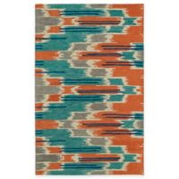 Kaleen Global Inspirations Watercolor Ikat Multicolor 5-Foot x 7-Foot 9-Inch Area Rug