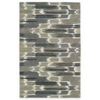 Kaleen Global Inspirations Watercolor Ikat 5-Foot x 7-Foot 9-Inch Area Rug in Grey