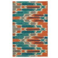 Kaleen Global Inspirations Watercolor Ikat Multicolor 8-Foot x 10-Foot Area Rug