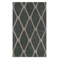 Diamond 1-Foot 9-Inch x 2-Feet 10-Inch Woven Tapestry Rug in Blue