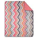 Chevron Indoor/Outdoor Throw Blanket in Coral/Multi