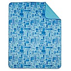 Tile Indoor/Outdoor Throw Blanket in Blue
