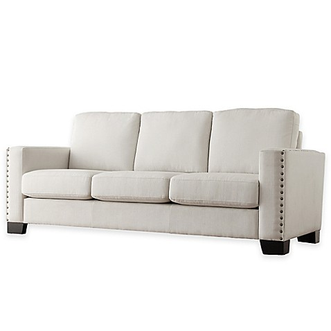 image of Verona Home Darby Nailhead Accent Sofa