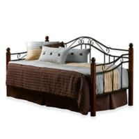 Hillsdale Madison Daybed with Suspension Deck and Trundle in Black Cherry