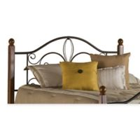 Hillsdale Milwaukee King Headboard with Rails in Black Cherry
