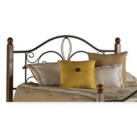 Hillsdale Milwaukee Twin Headboard with Rails in Black Cherry