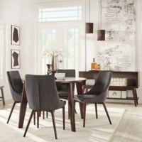 Verona Home 5-Piece Hudson Round Dining Set in Dark Grey
