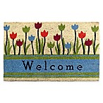 Welcome Tulip 30-Inch x 18-Inch Door Mat
