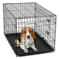 OxGord® Metal Double Door Pet 30-Inch Crate in Black
