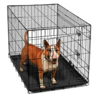 OxGord® Metal Double Door Pet 36-Inch Crate in Black