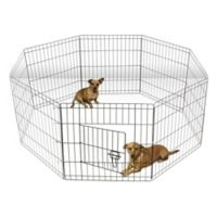 OxGord® 30-Inch Wire Pet Play Pen in Black