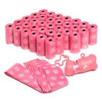 OxGord 700-Count Pet Poop Bags with Dispenser in Pink