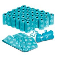 OxGord 700-Count Pet Poop Bags with Dispenser in Blue