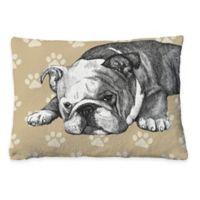 Laural Home Bulldog Sketch Fleece Dog Bed