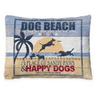 "Laural Home ""Dog Beach"" Fleece Dog Bed"