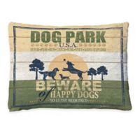 """Laural Home """"Dog Park"""" Fleece Dog Bed"""