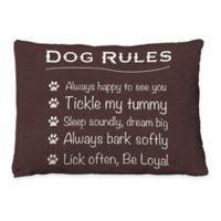 "Laural Home ""Dog Rules"" Fleece Dog Bed"