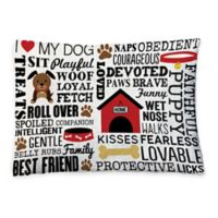 Laural Home Dog Words Fleece Dog Bed