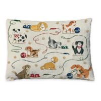 Laural Home Dogs at Play Fleece Dog Bed