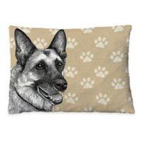 Laural Home German Shepherd Sketch Fleece Dog Bed
