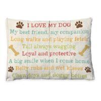 "Laural Home ""I Love My Dog"" Fleece Dog Bed"