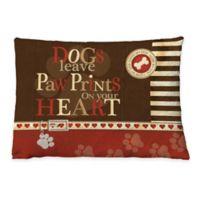 "Laural Home ""Dog Paw Prints"" Fleece Dog Bed"