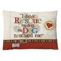 """Laural Home """"My Dog Rescued Me"""" Fleece Dog Bed"""