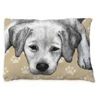 Laural Home Yellow Lab Sketch Fleece Dog Bed