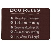 "Laural Home® ""Dog Rules"" Pet Mat in Brown"