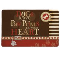 "Laural Home® ""Paw Prints"" Pet Mat in Brown"