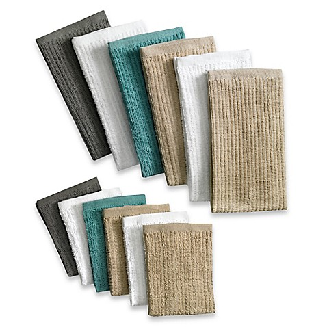 image of Real Simple® 6-Pack Bar Mop Kitchen Linens in Multi