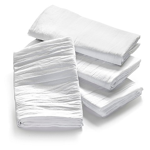 Real Simple 174 4 Pack Flour Sack Towels In White Bed Bath