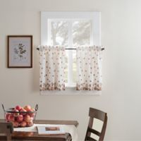 Fresh Bloom 24-Inch Kitchen Window Curtain Tier Pair
