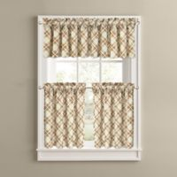 Woodland Plaid 24-Inch Kitchen Window Curtain Tiers
