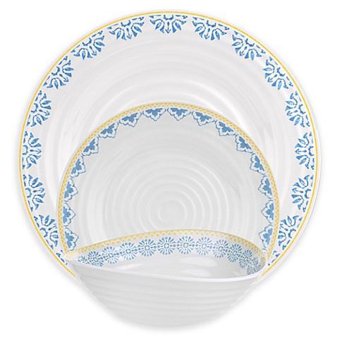 Sophie Conran for Portmeirion® Blue Medallions Melamine Dinnerware ...