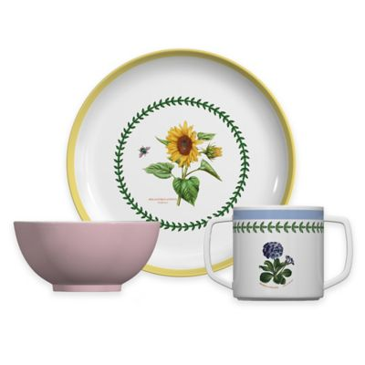 Portmeirion® Botanic Garden 3-Piece Children\u0027s Multicolored Plate and Bowl Set  sc 1 st  Bed Bath \u0026 Beyond & Buy Melamine Kids Set from Bed Bath \u0026 Beyond