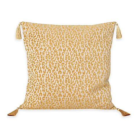 Honey Gold Throw Pillow : Buy Thro Gabriella Cheetah Square Throw Pillow in Honey Gold from Bed Bath & Beyond