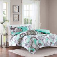 Intelligent Design Marie 5-Piece Full/Queen Comforter Set in Aqua