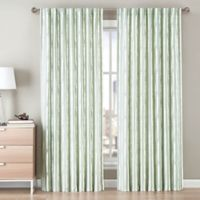 Be Artistic Ellis Painted Stripe 108-Inch Rod Pocket/Back Tab Window Curtain Panel in Green