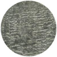 Safavieh Faux Sheep Skin 4-Foot Round Area Rug in Grey