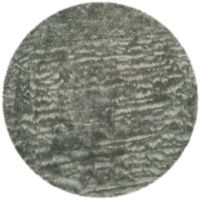 Safavieh Faux Sheep Skin 6-Foot Round Area Rug in Grey