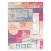 United Weavers Abstract 5-Foot 3-Inch x 7-Foot 2-Inch Indoor/Outdoor Area Rug