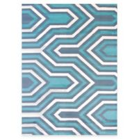 United Weavers Modern Texture Cupola 7-Foot 10-Inch x 10-Foot 6-Inch Area Rug in Blue